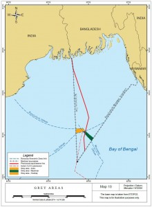 """Grey area"" resulting from the Tribunal's delimitation in the Bay of Bengal Maritime Boundary Arbitration"
